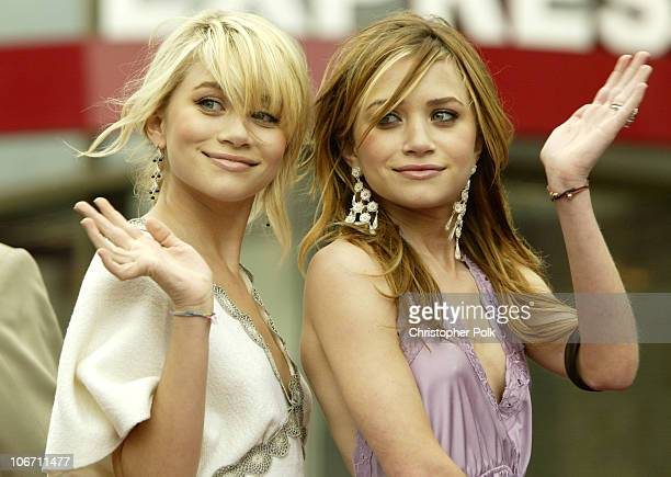 Ashley Olsen and Mary-Kate Olsen during Mary-Kate Olsen and Ashley Olsen Receive their Star on the Hollywood Walk of Fame at Grauman's Chinese...