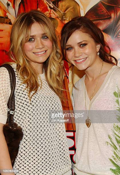 Ashley Olsen and MaryKate Olsen during Starsky Hutch World Premiere at Mann Village Theater in Westwood California United States