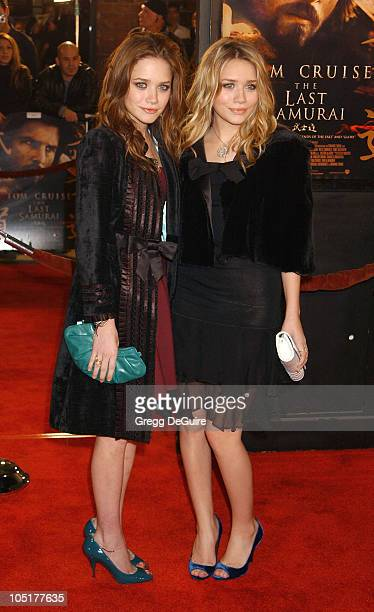 """Ashley Olsen and Mary-Kate Olsen during """"The Last Samurai"""" Los Angeles Premiere at Mann Village Theatre in Westwood, California, United States."""