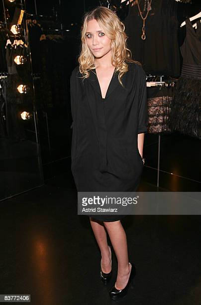 Ashley Olsen attends the re-launch of MANGO's flagship store on November 20, 2008 in New York City.