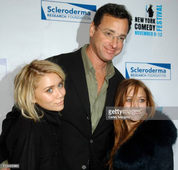 Ashley Olsen Bob Saget and MaryKate Olsen during Bob Saget Presents Cool Comedy Hot Cuisine Benefiting the Scleroderma Research Foundation at...