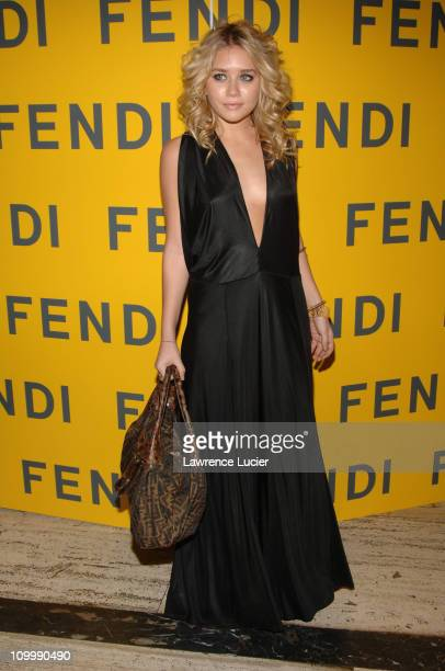 Ashley Olsen during Fendi 80th Anniversary All Hallow's Eve Party Hosted by Karl Lagerfeld at 25 Broadway in New York City New York United States