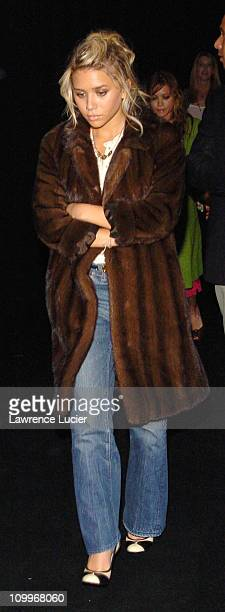 Ashley Olsen during Olympus Fashion Week Spring 2005 Marc Jacobs Arrivals at Pier 54 in New York City New York United States