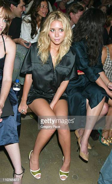 Ashley Olsen during Olympus Fashion Week Spring 2006 Calvin Klein Backstage and Front Row at Milk Studios in New York City New York United States