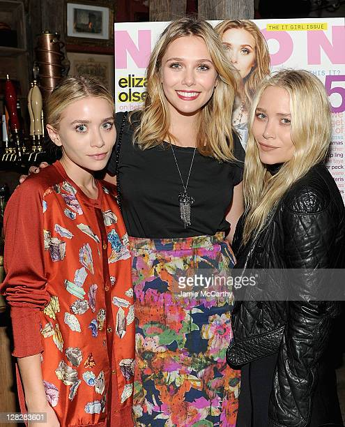 Ashley Olsen Elizabeth Olsen and Mary Kate Olsen attend the NYLON AX Armani Exchange Private Dinner for the October issue with cover star Lizzie...