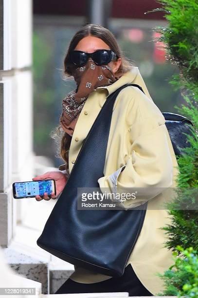 Ashley Olsen is seen in Manhattan on August 12 2020 in New York City