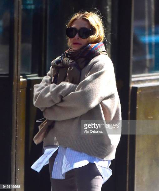 Ashley Olsen is seen in the West Village on April 20 2018 in New York City