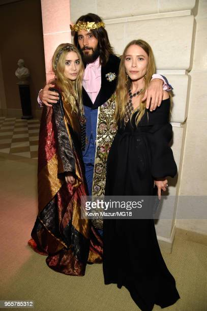 Ashley Olsen Jared Leto and MaryKate Olsen attend the Heavenly Bodies Fashion The Catholic Imagination Costume Institute Gala at The Metropolitan...