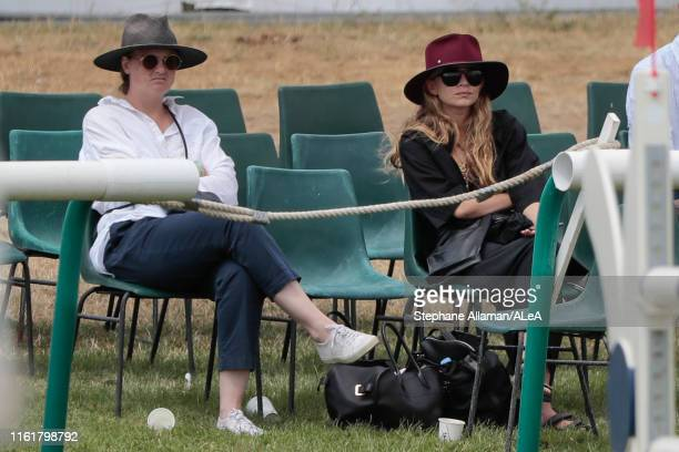 Ashley Olsen twin sister of Mary Kate Olsen is attending the Longines Global Champions Tour of Chantilly at Hippodrome de Chantilly on July 13 2019...