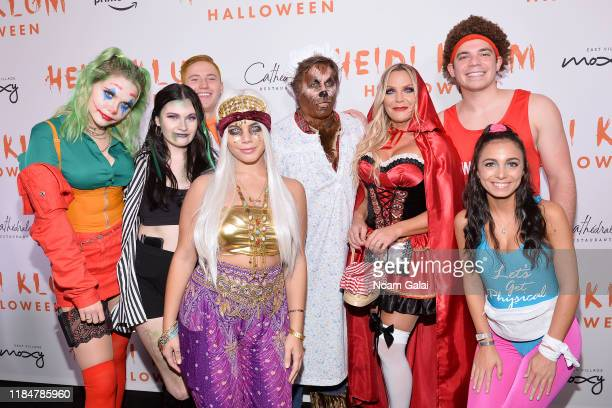 Ashley Olshove Riley Deller Arik McArthur Krystal Scicutella Kevin Mazur Jennifer Mazur Zach Mazur and Victoria Seropian attend Heidi Klum's 20th...