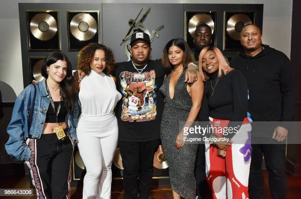 Ashley Outrageous, Ciera Rogers, DJ Mustard, Christina Rogers, Rae Holliday, DJ Diamond Kuts and Gabe Williams attend as Remy Martin Kicks Off...