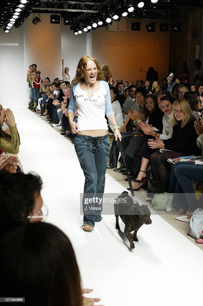 Ashley Paige during Mercedes-Benz Shows LA Fashion Week Spring 2004 - Ashley Paige Backstage and Front Row at The Standard Downtown LA in Los Angeles, California, United States.