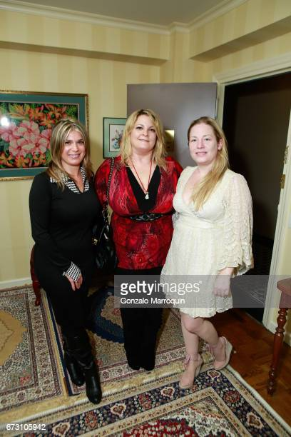 Ashley Papa Lora Condon and Genevieve Malandra attend the Paul Dee Dee Sorvino celebrate their new book Pinot Pasta Parties at 200 East 57th Street...