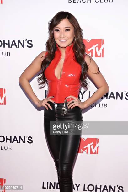 Ashley Park attends MTV's 'Lindsay Lohan's Beach Club' Premiere Party at Moxy Times Square on January 7 2019 in New York City
