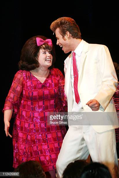 Ashley Parker Angel and cast member during Behind The Scenes with Ashley Parker Angel as he joins 'Hairspray' on Broadway at The Neil Simon Theatre...