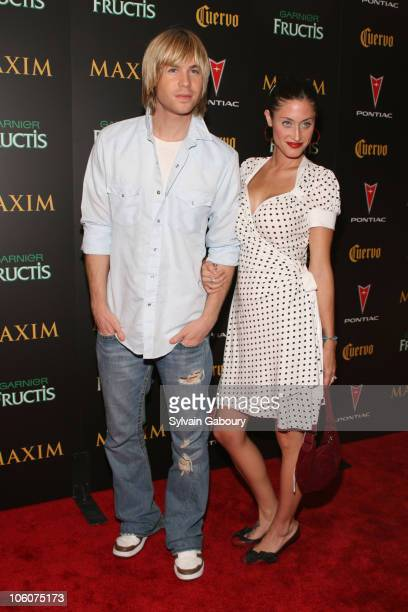 Ashley Parker Angel and fiance Tiffany Lynn during Maxim Magazine's 7th Annual Hot 100 Party Arrivals at Buddha Bar in New York New York United States