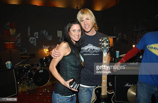 Ashley Parker Angel and girlfriend Tiffany on the set of the Let You Go video shoot
