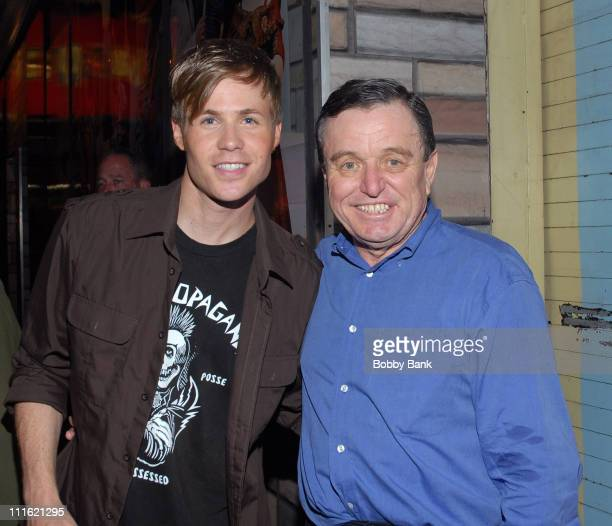 Ashley Parker Angel and Jerry Mathers during Jerry Mathers Joins the Cast of Hairspray as Wilbur Turnblad June 8 2007 at Neil Simon Theatre in New...