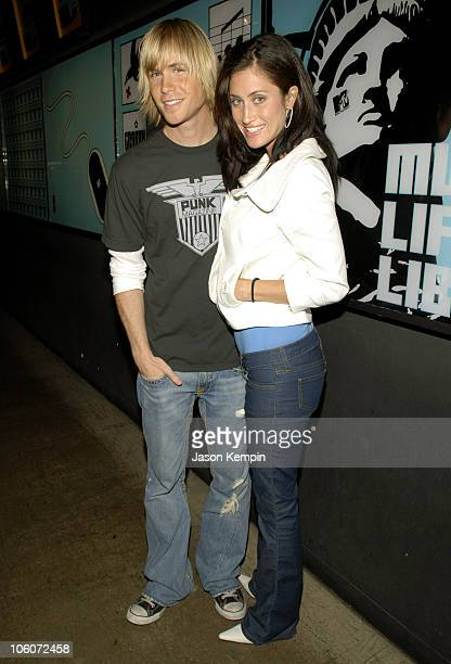 Ashley Parker Angel and Tiffany Lynn Angel during Ashley Parker Angel and Jamie Kennedy Visit MTV's TRL May 16 2006 at MTV Studios Times Square in...