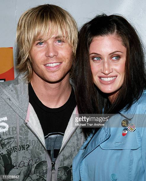 Ashley Parker Angel and wife Tiffany Lynn during 'Yo Momma' Premiere Party Arrivals at Privilege in Hollywood California United States