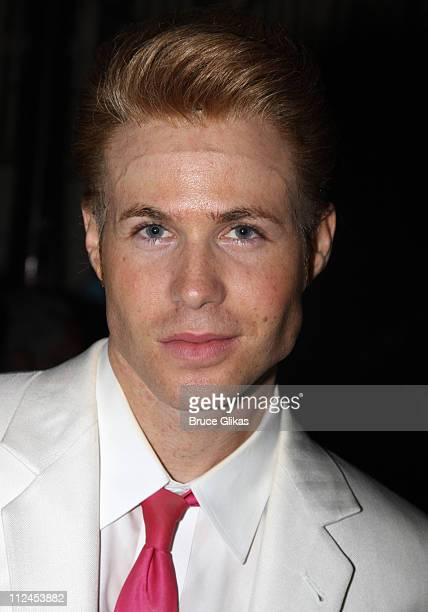 COVERAGE* Ashley Parker Angel backstage at 'Hairspray' on Broadway at the Neil Simon Theatre on July 20 2008 in New York City
