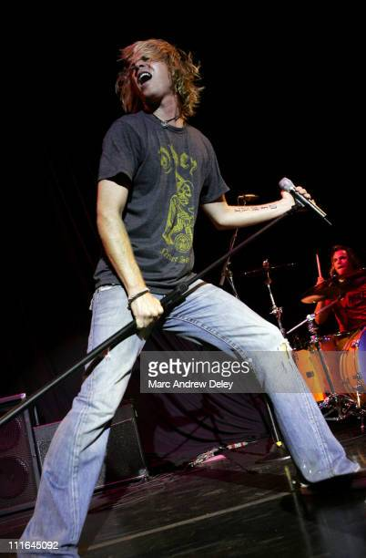 Ashley Parker Angel during Ashlee Simpson and Ashley Parker Angel in Concert July 11 2006 at Bank of America Pavilion in Boston Massachusetts United...