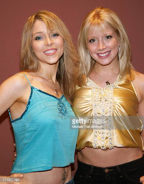 Ashley Peldon and Courtney Peldon during '2001 Maniacs' Midnight Tour Kickoff Party at The Nuart in West Los Angeles California United States