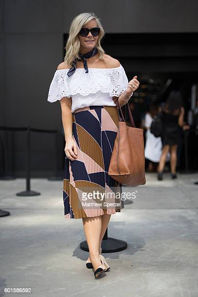 Ashley Pletcher is seen attending Michael Costello during New York Fashion Week on September 8 2016 in New York City