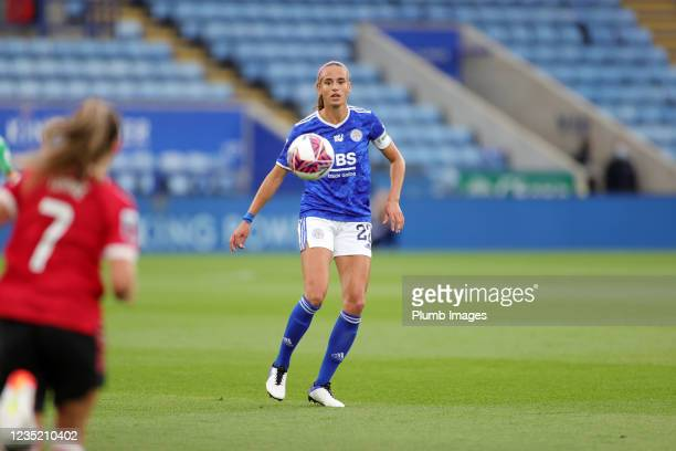 Ashley Plumptre of Leicester City Women during the Barclays FA Women's Super League match between Leicester City Women and Manchester United Women at...