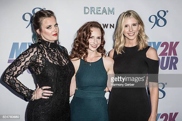 Ashley Poole Holly BlakeArnstein and Melissa Schuman of Dream arrive at Faculty on April 26 2016 in Los Angeles California