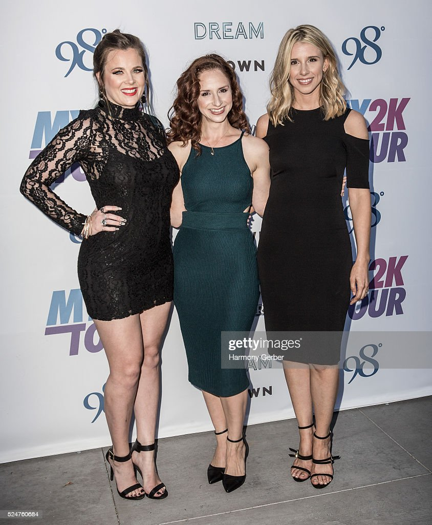 Ashley Poole, Holly Blake-Arnstein and Melissa Schuman of Dream arrive at Faculty on April 26, 2016 in Los Angeles, California.