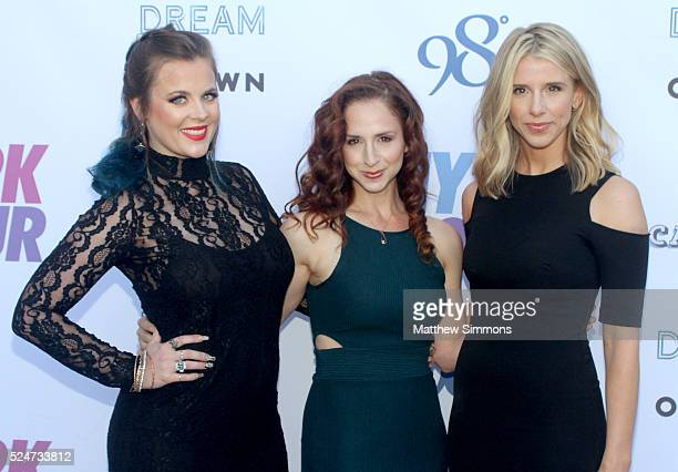 Ashley Poole Holly BlakeArnstein and Melissa Schuman of Dream attend the My2k Tour Launch With 98 Degrees OTown Dream And Ryan Cabreraat at Faculty...