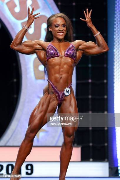 Ashley Radiance Fuller competes in Women's Physique as part of the Arnold Sports Festival on March 1 at the Greater Columbus Convention Center in...
