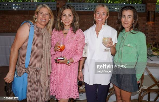 Ashley Ramos, Dana Farouki, Kate Holstein, and Liza Muak pose for a photo during the Cultured X Valentino Summer Celebration for the Young Collectors...