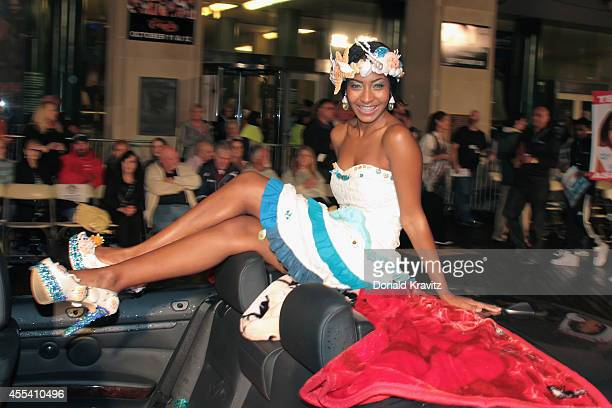 Ashley Richelle Gabriel Miss Virgin Islands in Show Me Your Shoes Parade at Atlantic City Boardwalk Hall on September 13 2014 in Atlantic City New...