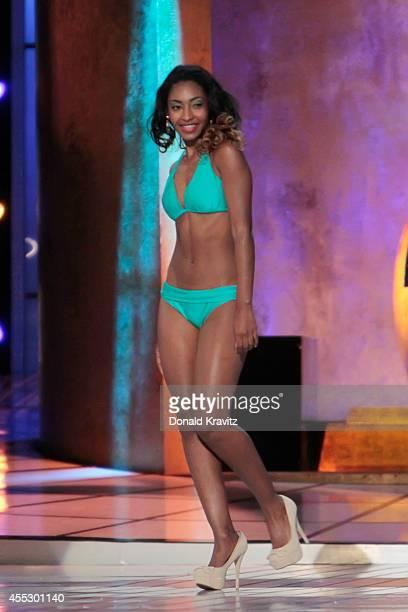 Ashley Richelle Gabriel Miss Virgin Islands in swinsuit at Atlantic City Boardwalk Hall on September 11 2014 in Atlantic City New Jersey