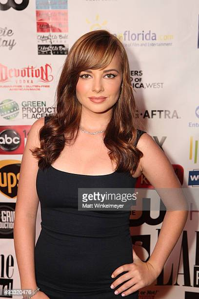 Ashley Rickards arrives at the 11th Annual LA Femme International Film Festival awards show and gala at The Los Angeles Theatre Center on October 18...