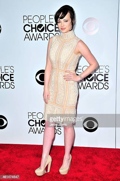 Ashley Rickards arrives at the 40th Annual People's Choice Awards at Nokia Theatre LA Live on January 8 2014 in Los Angeles California