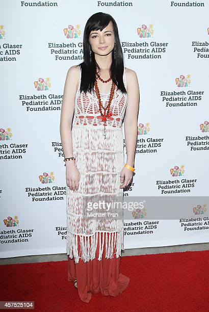 Ashley Rickards arrives at the Elizabeth Glaser Pediatric AIDS Foundation for 25th Annual 'A Time For Heroes' celebration held at The Bookbindery on...