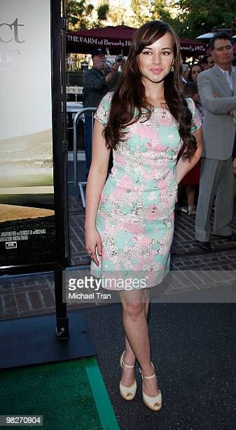Ashley Rickards arrives to the Los Angeles premiere of 'The Perfect Game' held at Pacific Theaters at the Grove on April 5 2010 in Los Angeles...