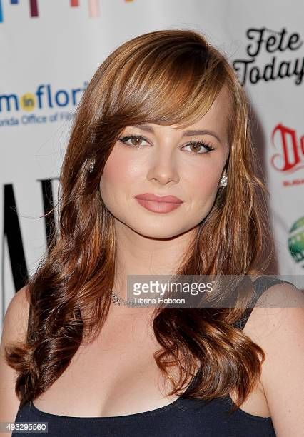 Ashley Rickards attends the 11th annual LA Femme International Film Festival Awards Gala at The Los Angeles Theatre Center on October 18 2015 in Los...