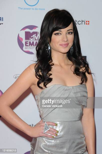 Ashley Rickards attends the 'MTV Europe Music Awards 2011' at Odyssey Arena on November 6 2011 in Belfast Northern Ireland