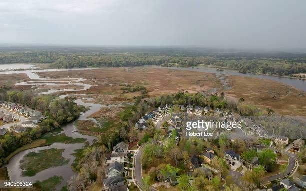ashley river and coosaw creek - ノースチャールストン ストックフォトと画像
