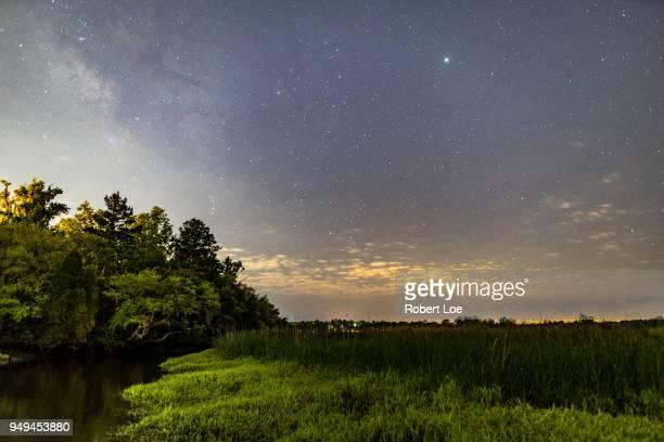 ashley river milky way - ノースチャールストン ストックフォトと画像