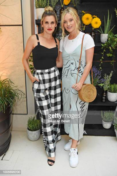 Ashley Roberts and Laura Whitmore attend a dinner to celebrate Aveda's 'What You're Made Of' campaign at Spring at Somerset House on July 26 2018 in...