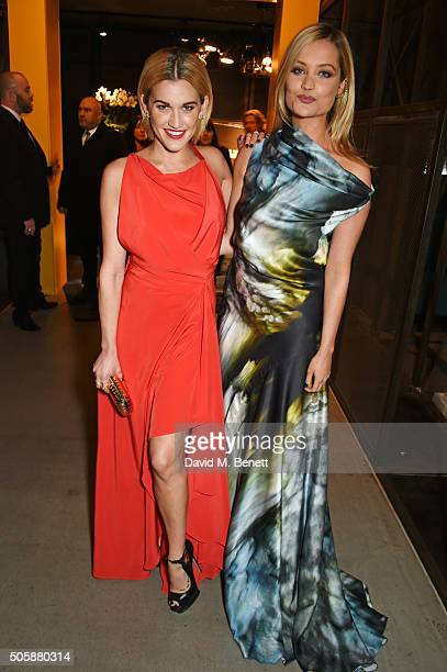 Ashley Roberts and Laura Whitmore attend the 21st National Television Awards at The O2 Arena on January 20 2016 in London England