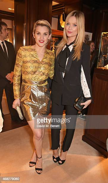 Ashley Roberts and Laura Whitmore attend the launch of new book 'Front Roe How To Be The Leading Lady In Your Own Life' By Louise Roe at Ralph Lauren...