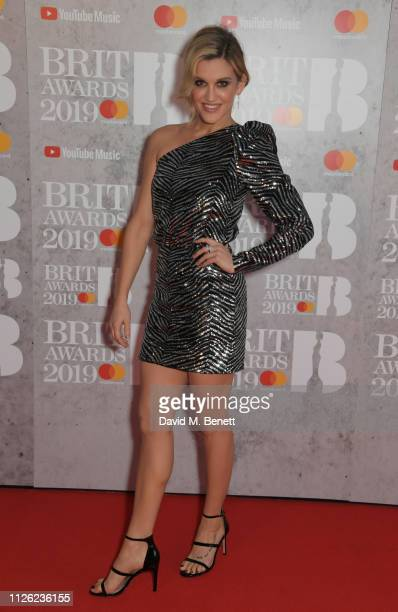 Ashley Roberts arrives at The BRIT Awards 2019 held at The O2 Arena on February 20 2019 in London England