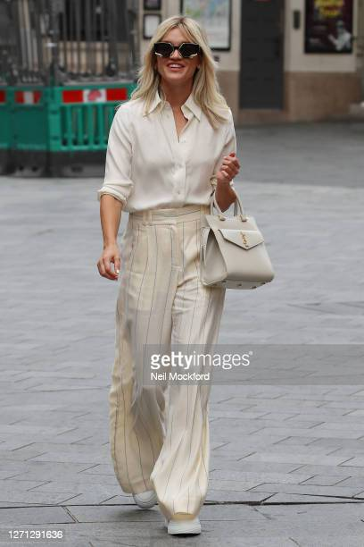 Ashley Roberts at Heart Breakfast Radio Studios on September 08, 2020 in London, England.