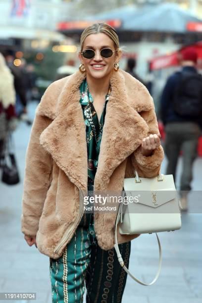 Ashley Roberts at Heart Radio Studios on December 02, 2019 in London, England.